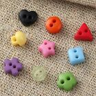 9 Shaped 2 Holes Buttons Scrapbooking Decorative Sewing Random Mixed Color Resin