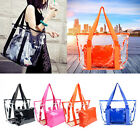 Fashion Women Oversized Clear Transparent Beach Shoulder Bags Tote Jelly Handbag
