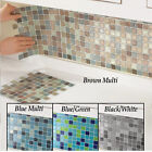 Bathroom Mosaic Wall Tiles 6Pcs Kitchen Backsplash Self Adhesive Home Decoration