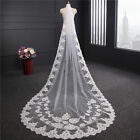 New White/Ivory 1T 3M Wedding Bridal Long lace edge Veil Cathedral With Comb