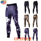 US Men's Fitness Jogging Pants Compression Tight Training Leggings GYM Sports