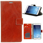 Retro Red Crazy Horse PU Leather Flip Case Cover For Various Mobile phones
