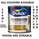 Dulux 250ml Quick Drying Woodsheen Stain Varnish Interior Exterior All Colours
