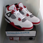 NEW 2012 NIKE AIR JORDAN IV 4 RETRO WHITE VARSITY RED BLACK 308497-110 SIZE 9.5