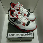 NEW 2006 NIKE AIR JORDAN IV 4 RETRO MARS BLACKMON WHITE VARSITY RED BLACK SZ 8.5