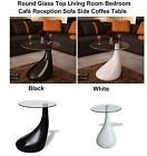 Round Glass Top Living Room Bedroom Café Reception Room Sofa Side Coffee Table