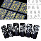 3D Silver Gold Nail Art Stickers Decals Hot Stamping Nail Tips Decoration Tools