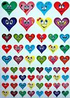 Color Coding Labels Heart Shaped Valentines Day Permanent Adhesive 290 Pack