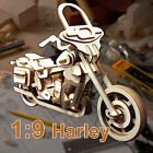 1:9 Harley Davidson Motorcycle 3D Puzzle Detail Wooden Model Street Bike Gift