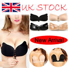 UK Silicone Self Adhesive Stick On Push Up Gel Strapless Invisible Bra Backless