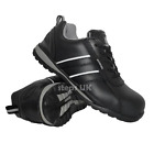 MENS LIGHTWEIGHT LADIES LEATHER STEEL TOE CAP WORK SAFETY TRAINERS SHOES BOOTS