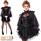 Victorian Black Widow Ladies Halloween Scary Spooky Womens Adults Costume Outfit