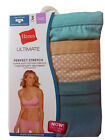 "Hanes Ultimate Women's Hipster 3-Pack  ""Cotton Comfort TAGLESS"" ""STRETCH""  NEW"