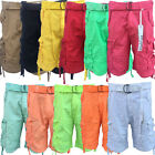 Men's Halifax Slim Straight Fit Cargo Shorts 11 Different Colors