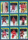 Detroit Red Wings 1979-80 Topps 17 Card Team Set Vachon Rutherford Libett Larson