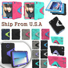 For iPad Mini 1/2/3 & LG Shockproof Heavy Duty Rubber With Hard Stand Case Cover