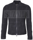 Suede Cafe Racer Leather Jacket inspired by James Bond Spectre Midnight
