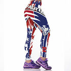 New England Patriots NFL Women Fitness Leggings Sport 3D Yoga Pants Run One Size