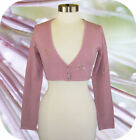 The Limited Embroidered Sequin Stretch Cardigan Shrug Sweater S or L Pink