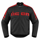 Icon Mens Red/Black Leather Motorhead 2 Motorcycle Jacket