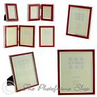 "Multipack Sixtrees Zurich Red Enamel & Silver Plate Photo Frames 3""x2""-10""x8"""