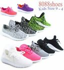Youth Girl's Kid's Slip On All Season Sneakers Casual Sport Shoes Size 9 - 4 NEW