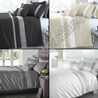 DIAMANTE QUILT DUVET COVER BEDDING BED SET WITH PILLOW CASES BLACK SILVER WHITE