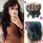 Indian Loose Wave Silk Base Frontal 13x4 Silk Base Closure with Baby Hair
