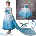 NEW Girls Frozen Christmas Xmas Anna,Elsa Tutu Party Dress Costume Size 2-7Y