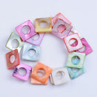 Natural Gemstone Mix Colour Shell Heart Coin Flower Square Bracelet Spacer Beads