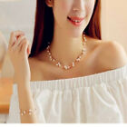 Women New Fashion Wedding Party Luxurious Necklace Bracelet Ring Earrings Set