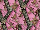 Pink MOSSY OAK BREAK UP Pink Camo Print 1/4 or 1/2 Sheet Birthday Cake Topper Fr