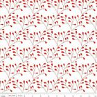 MOD STUDIOS VINE FLORAL RED  RILEY BLAKE QUILT SEWING FABRIC Free Oz Post