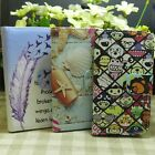 Zoo Garden Shell Feather Wallet Pouch holder flip case cover for LG Phone