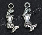 Hot 15-60-300pcs Antique Silver Beautiful Mermaid   Charms Pendant DIY 20x8mm F