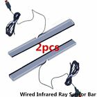 2X Wired Infrared Ray Sensor Bar for Nintendo Wii Remote Controller Pro XP