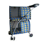 Latest Pet Stroller Double Deck Dog Cat Carrier Safety Walking Buggy Pets Supply