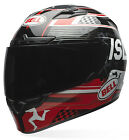 Bell Black/Red/White Adult Qualifier DLX Isle of Man Full Face Motorcycle Helmet