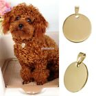 New Round Stainless Steel  Dog Tag Pet ID Tag Dog Disc EFFU03
