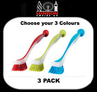IKEA PLASTIS Washing Up Dish Brushes With Suction Cup Colour Choice QUALITY X3