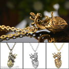 2017 Mens Special Anatomy Heart Hollow Retro Pendant Necklace Hot PUNK Chic