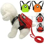 Dog Harness Bag with Leash Pet Puppy Backpack Doggie Hiking Camping Carrier S L