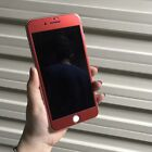 Pure Red Titanium Alloy Tempered Glass Front Back Protector For iPhone 7 Plus