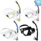 Cressi Marea Dry Snorkel Mask Set Yellow Blue Pink Dry Top Snorkelling Swimming