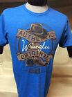 New Mens Western Wrangler T-Shirt Blue
