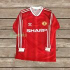 Manchester United 1990 Long Sleeve RETRO Football Shirt Soccer Jersey S M L XL