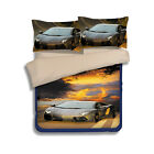 Car Quilt Duvet Doona Cover Set Single Queen King Size Fitted Sheet Pillowcases