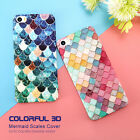 Fish Scale Mermaid Tail Shockproof 360° Hard Back Case Cover iPhone 6 6s 7 Plus