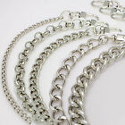Purse chain strap Silver handle shoulder crossbody handbag metal