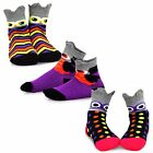 Внешний вид - TeeHee Halloween Kids Fun Crew Socks 3-Pair Pack Owl Faces Night Sock Soft Warm